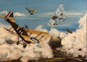 A Dogfight SE5-dr1